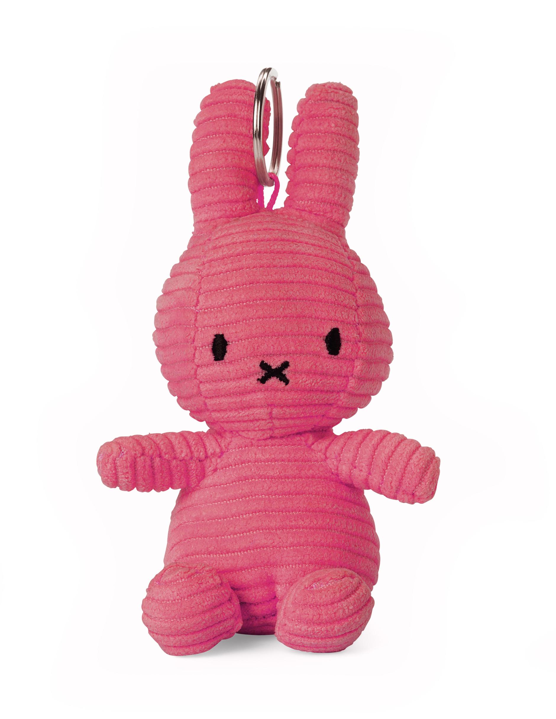 Plyšový zajačik ružový menčester - kľúčenka - Miffy (10 cm)