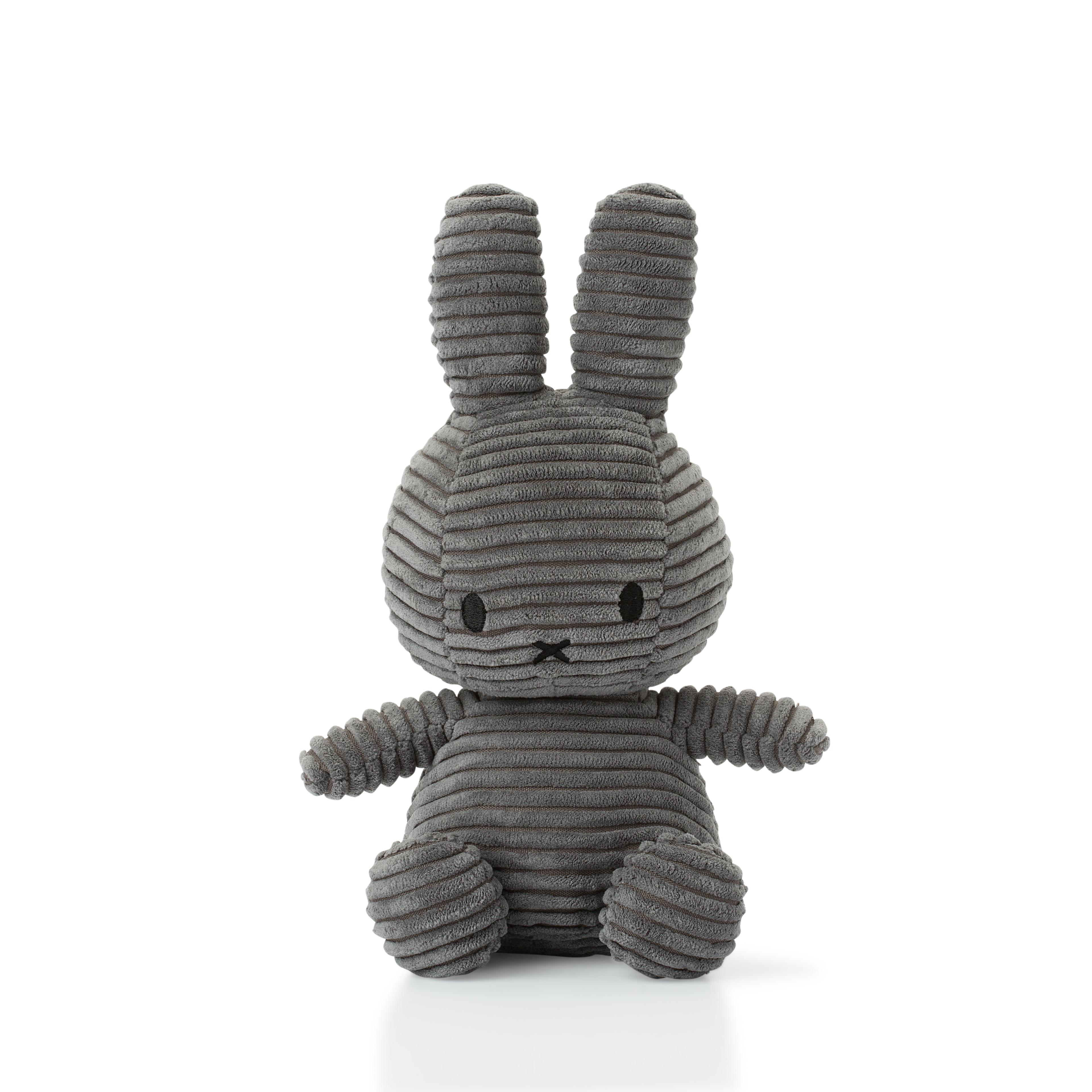 Plyšový zajačik sivý menčester - Miffy (23 cm)