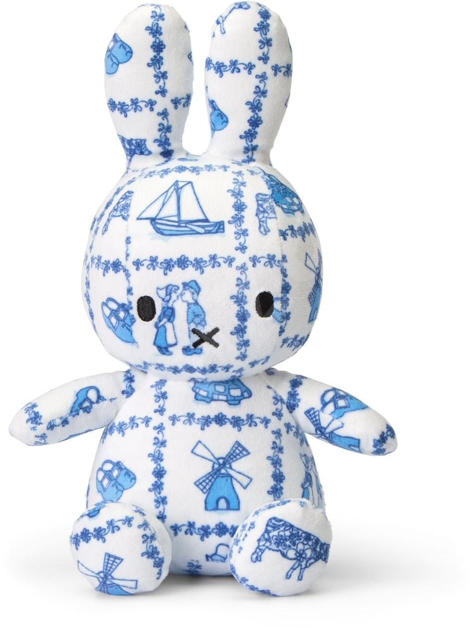 Plyšový zajačik ľudový vzor - flanel - Miffy  - 23 cm