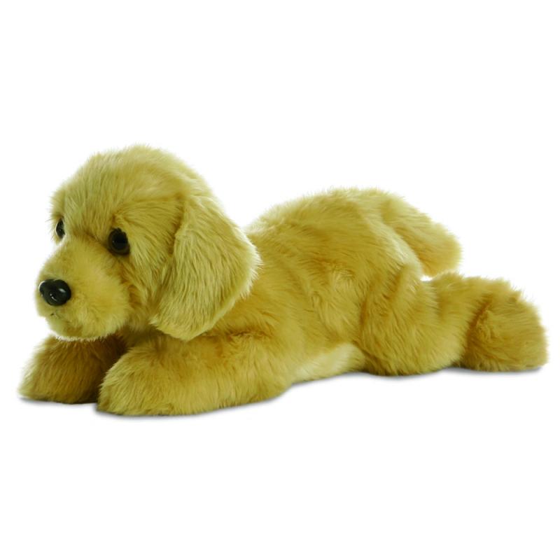 Plyšový zlatý labrador Goldie - Flopsies (30,5 cm)