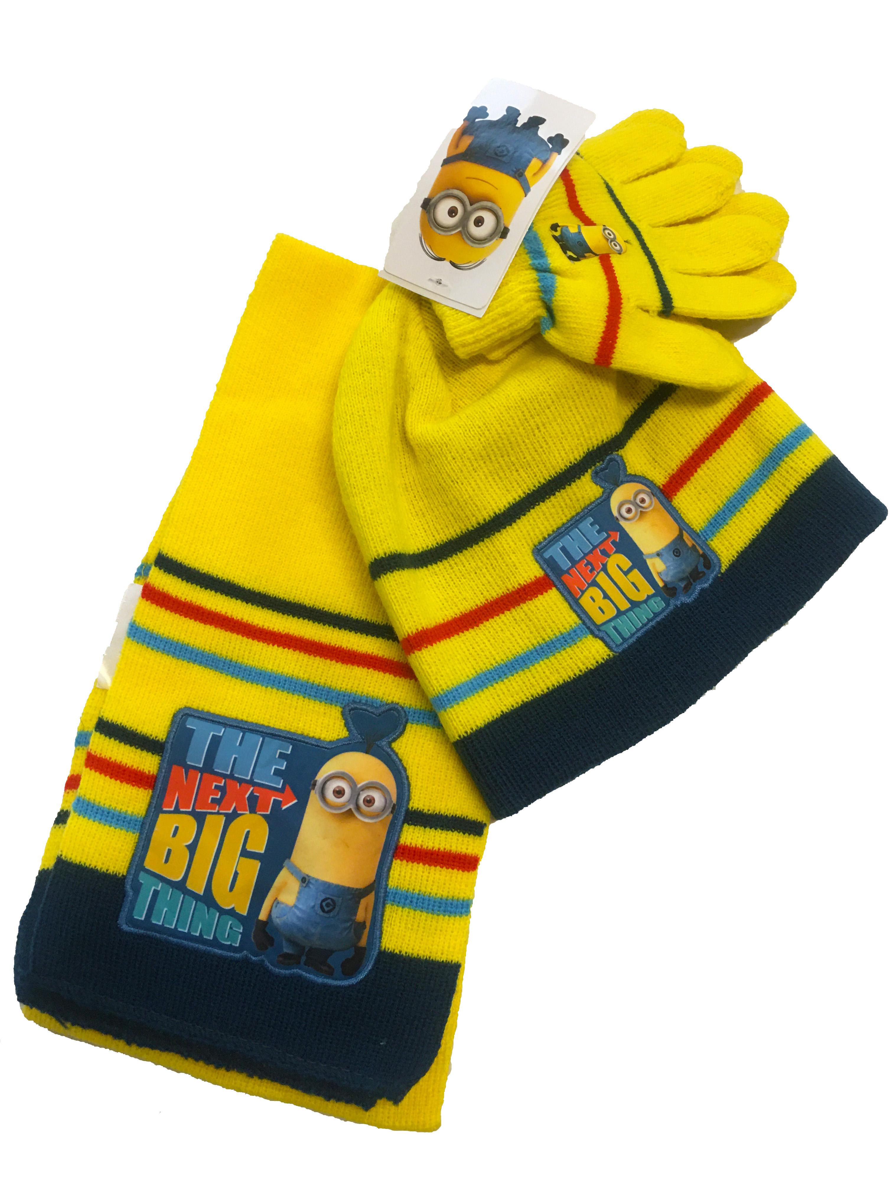Set zimního oblečení - Mimoň - žlutá - čepice + šála + rukavice