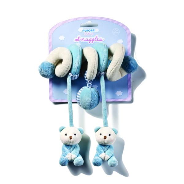 Plyšová špirála modrá - Snuggles (28 cm)