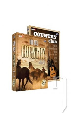 DVD Film - 100 nej country + Country club 6 CD + 1 DVD
