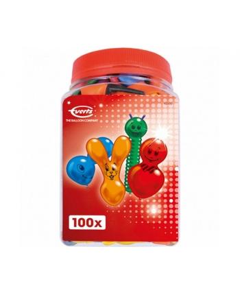 Farebné balóny figúrky 100ks v dóze
