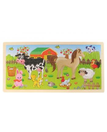 Puzzle drevené - zvieratká