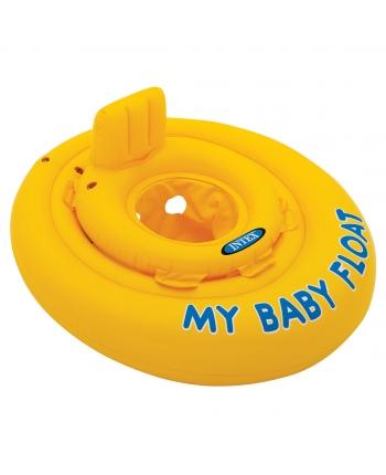 Nafukovací kruh baby žltý 70cm