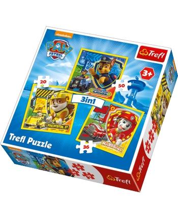 Puzzle 3v1 Paw Patrol