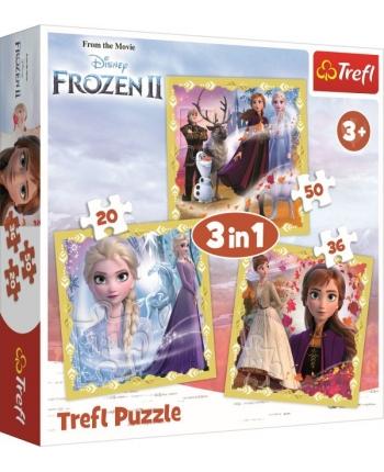 Puzzle 3v1 Frozen 2