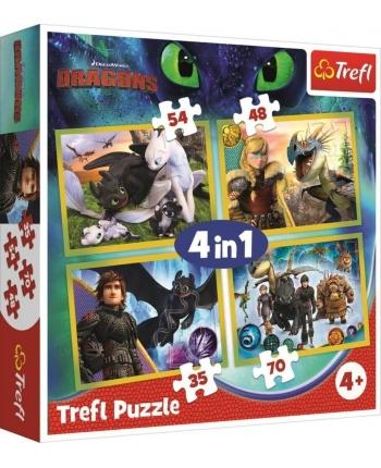 Puzzle 4v1 Ako vycvičiť Draka