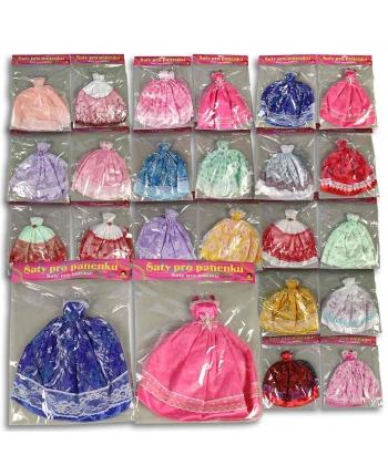 Šaty plesové pre bábiku 24 druhov