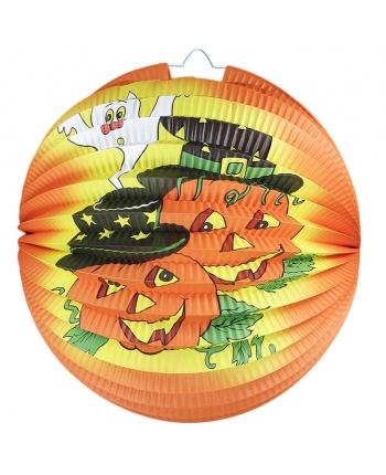 Lampion gula halloween oranžový