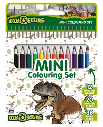 Blok s pastelkami - Dinosaury