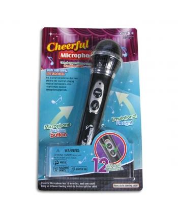 Mikrofón so svetlom a hud. a zosilňovač