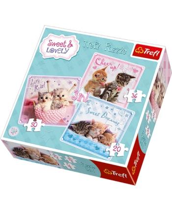 Puzzle 3v1 Sladké mačiatka