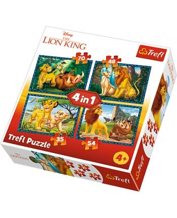 Puzzle 4v1 Leví Kráľ