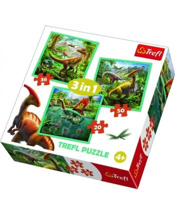 Puzzle 3v1 Dinosauri