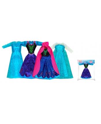 Šaty pre bábiku zimné kráľovstvo