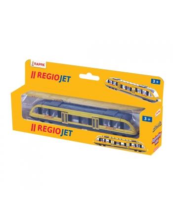 Vlak žltý RegioJet kov/plast 17cm
