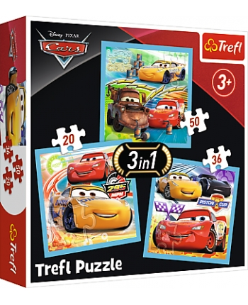 Puzzle 3v1 Cars 3