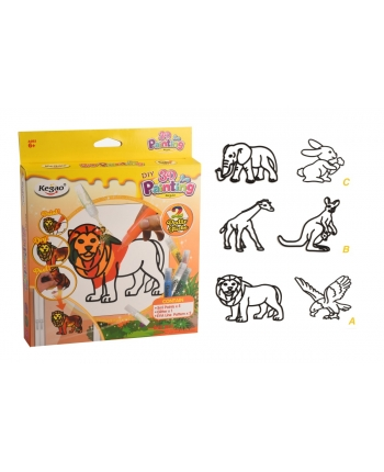 Kreatívne 3D maľovanie - zvieratká