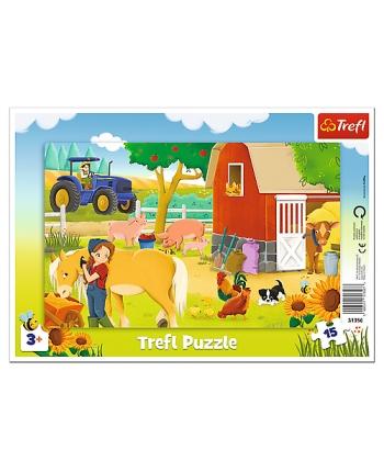 Puzzle 15 rámkové Na farme