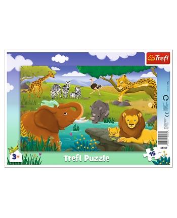 Puzzle 15 rámkové Safari