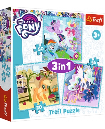Puzzle 3v1 My Little Pony