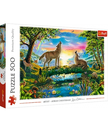 Puzzle 500 Vlci v prírode