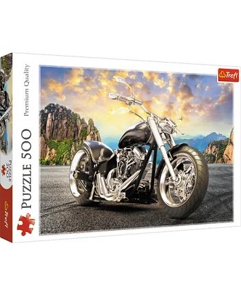 Puzzle 500 Čierna motorka