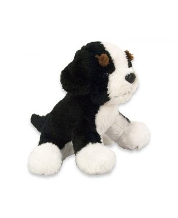 Plyšový psík čierno-biely 15cm