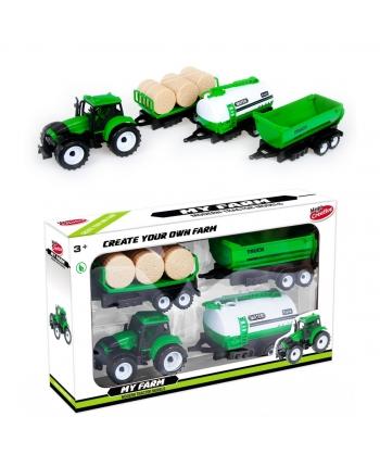 Traktor s 3 vlečkami na zotrvač. 38cm