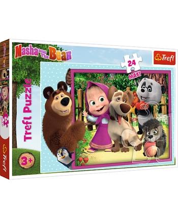 Puzzle 24 Maxi Máša a medveď