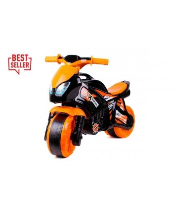 Odrážadlo motorka čiernooranžová