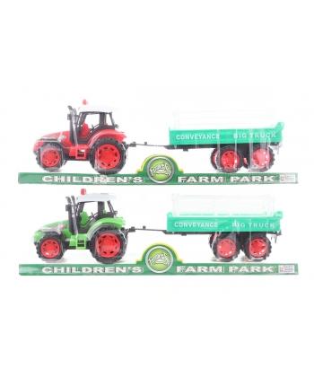 Traktor s prívesom 2 farby 32cm
