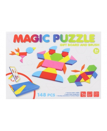 Magnetické puzzle v plastovej krabici