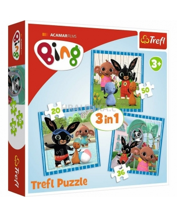 Puzzle 3v1 Bing a jeho priatelia