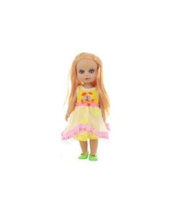 Bábika v žltých šatoch v sáčku 34cm
