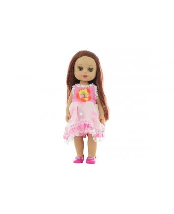 Bábika v ružových šatoch v sáčku 34cm