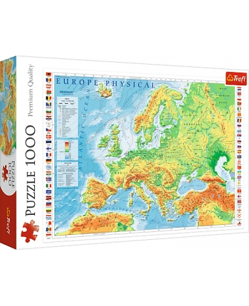 Puzzle 1000 Fyzikálna mapa Europy