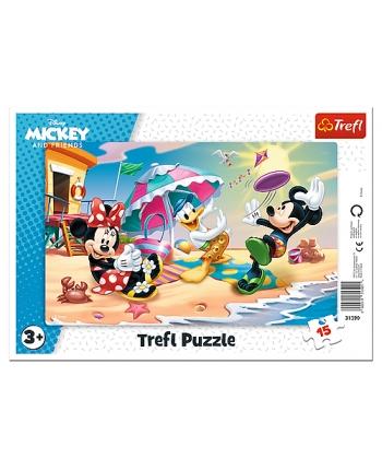 Puzzle 15 rámkové Mickey - plážové hry