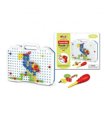 Puzzle 3D na šroubovanie + BO,144ks