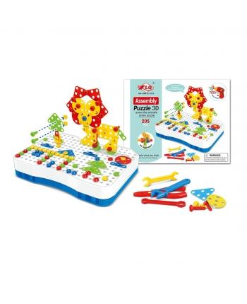 Puzzle 3D na šroubovanie + BO, 205ks
