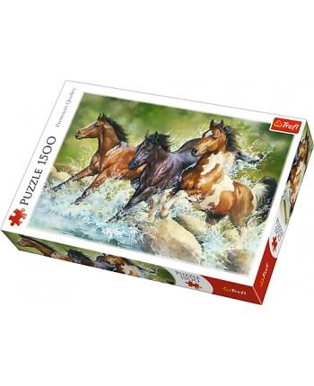 Puzzle 1500 Tri divoké kone