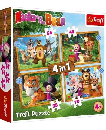 Puzzle 4v1 Máša a Medveď