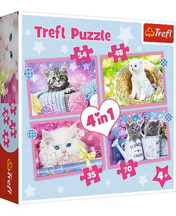 Puzzle 4v1 Mačky