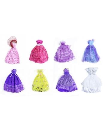 Šaty pre bábiku 8 druhov