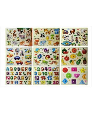 Drevené puzzle mix