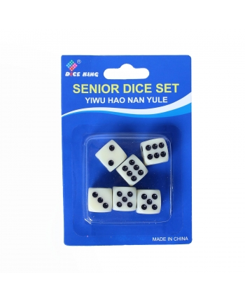 Kocky biele 6ks na karte
