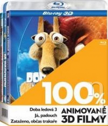 BLU-RAY Film - 3 BD 100% 3D animované (3x 3D Bluray)