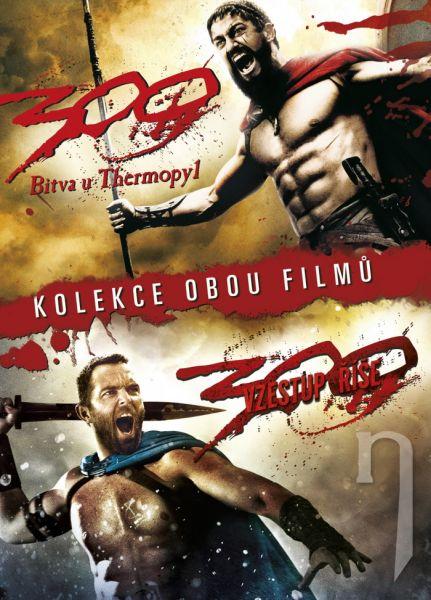 DVD Film - 300: BITVA U THERMOPYL + 300: VZESTUP ŘÍŠE (2 DVD)
